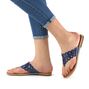 Blue Sandals for Women (533.002) - Simply Shoes Hong Kong