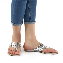 Silver Sandals for Women (533.002) - SIMPLY SHOES HONG KONG