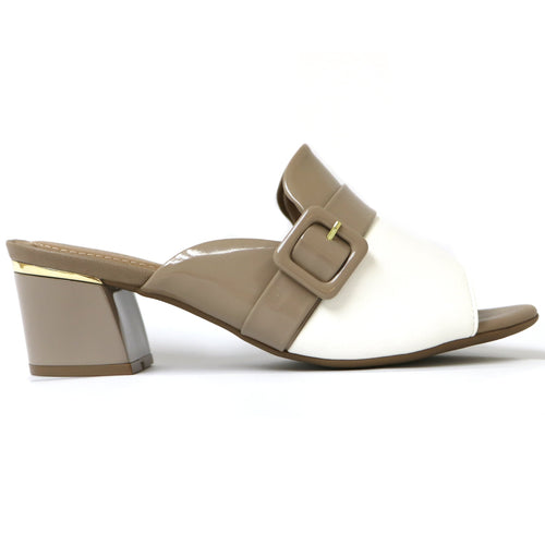 White/Taupe Sandals for Women (542.091) - SIMPLY SHOES HONG KONG