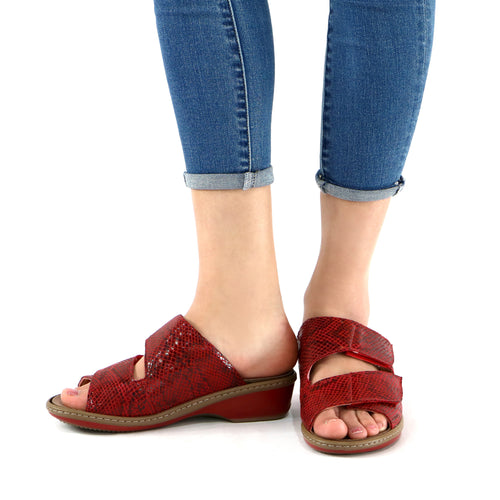 Red Sandals for Women (568.003) - SIMPLY SHOES HONG KONG