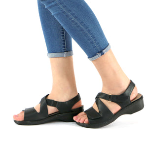 Black Sandals for Women (568.006) - SIMPLY SHOES HONG KONG