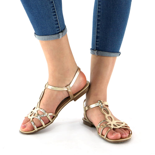Gold Sandals for Women (573.002)