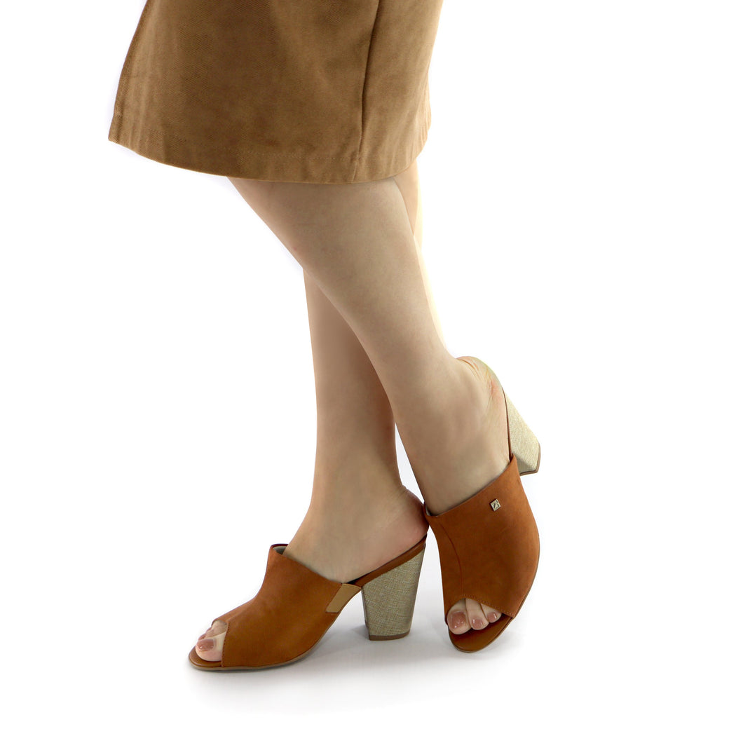 Brown Heel Sandal (578.001) - SIMPLY SHOES HONG KONG