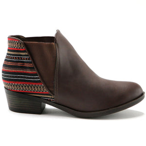Brown Etnico Ankle Boot (652.002) - SIMPLY SHOES HONG KONG