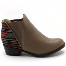 Taupe Etnico Ankle Boot (652.002) - SIMPLY SHOES HONG KONG