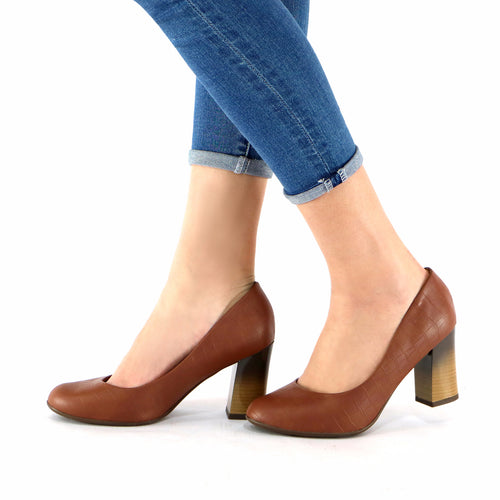 Brown Pumps for Women (690.074)