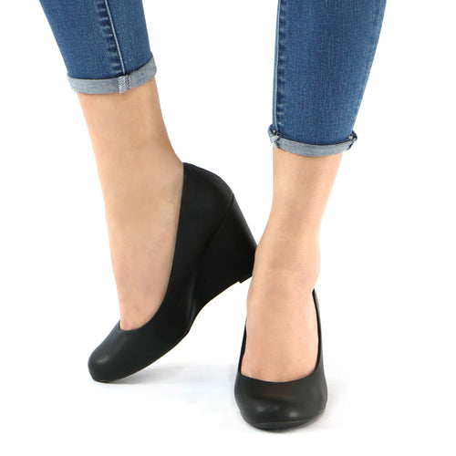 Black Pumps for Women (691.001) - SIMPLY SHOES HONG KONG