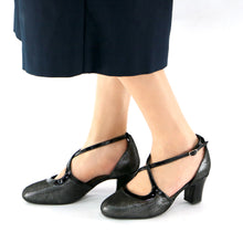 Black Metallic Dance Pumps for Womens (696.004) - SIMPLY SHOES HONG KONG