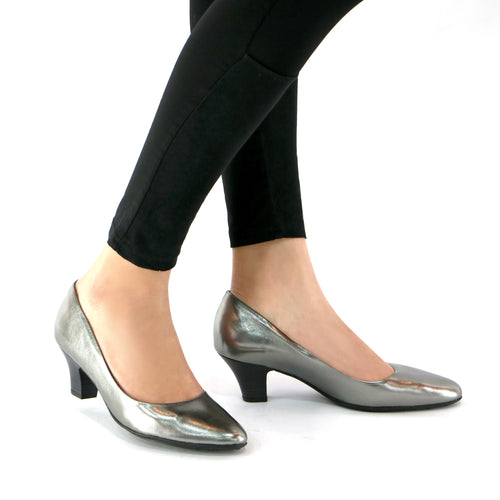 Pewter Pumps for Womens (703.001)