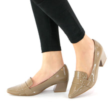 Taupe Pat Pumps for Womens (744.039)