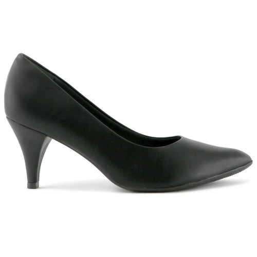 Black Napa Heels for Women (745.035) - SIMPLY SHOES HONG KONG