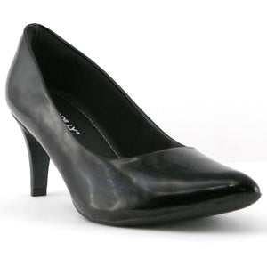 Black Patent Pumps for Women (745.035) - SIMPLY SHOES HONG KONG