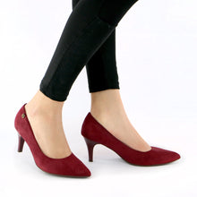 Red Microfiber Pumps for Womens (745.050) - SIMPLY SHOES HONG KONG