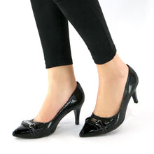 Black Snake Pumps for Womens (745.051) - SIMPLY SHOES HONG KONG