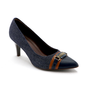 Blue Denim Pumps for Womens (745.051) - SIMPLY SHOES HONG KONG