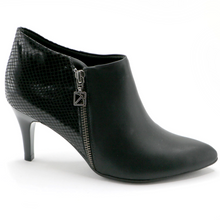 Black Napa with Snake Ankle Boot (745.055)