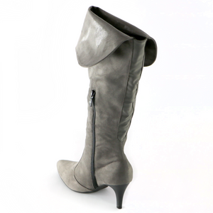 Grey Microfibra with Snake Knee Boot  (745.057)