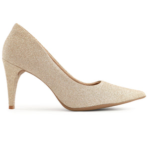 Champagne High Heel Ladies Pumps (749.001)