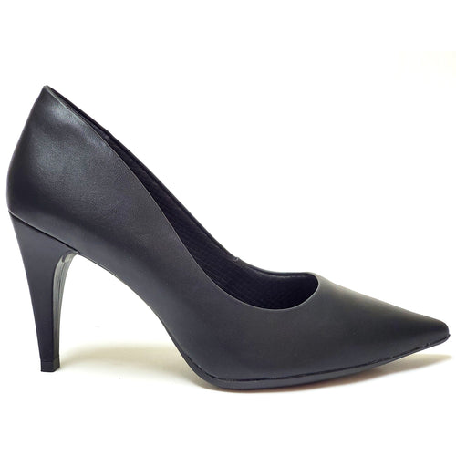 Black Nappa High Heel Ladies Pumps (749.001) - SIMPLY SHOES HONG KONG