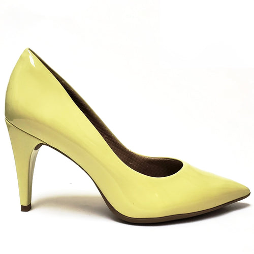 Lime Patent High Heel Ladies Pumps (749.001) - SIMPLY SHOES HONG KONG