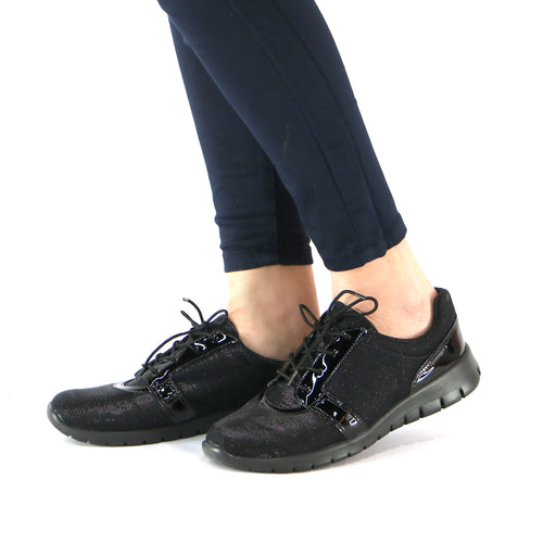 Black Sneakers for Women (970.001) - SIMPLY SHOES HONG KONG