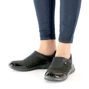 Black Sneakers for Women (970.004) - SIMPLY SHOES HONG KONG