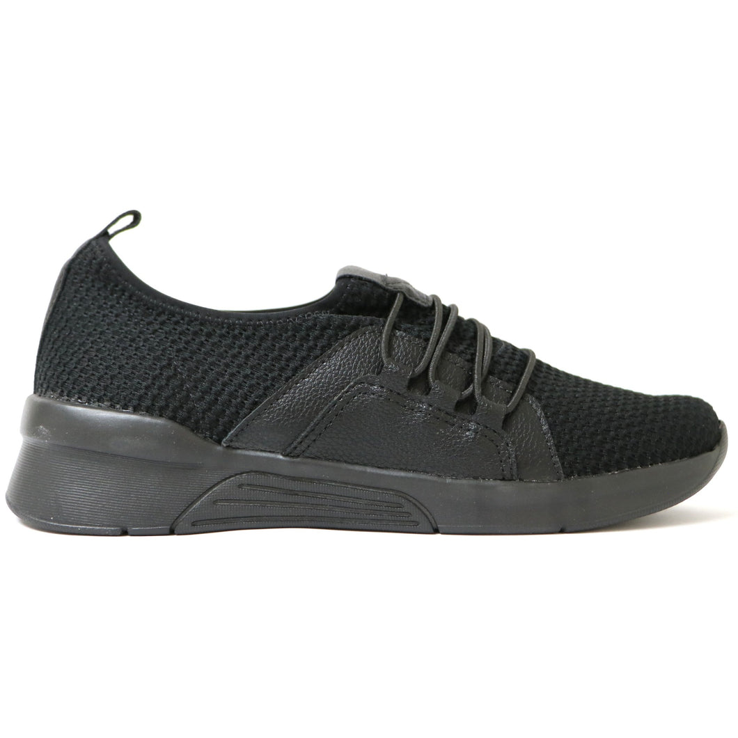 All Black Sneakers for Women (970.037) - SIMPLY SHOES HONG KONG