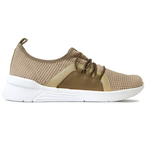 Taupe Sneakers for Women (970.037) - SIMPLY SHOES HONG KONG