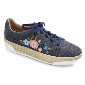 Denim Casual Shoe with Embroidery (978.002)