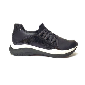 Black ENERGY Sneakers for Women (983.011) - SIMPLY SHOES HONG KONG