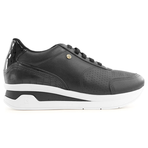 Black Croco Sneakers for Women (996.003)