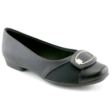Black Napa/Elastic Ladies Shoe (251.023)