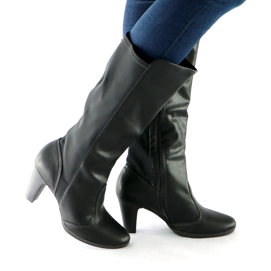 Black Boots for Women 130.182 - SIMPLY SHOES HONG KONG