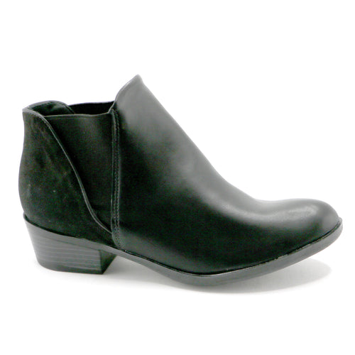 Microfibra and Napa Black Ankle Boot (652.002) - SIMPLY SHOES HONG KONG