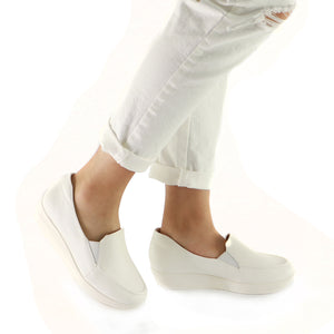 White Napa Ladies Shoes (214.026) - SIMPLY SHOES HONG KONG
