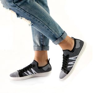 Black Ultimate Street Ladies Sneaker (961.025) - SIMPLY SHOES HONG KONG