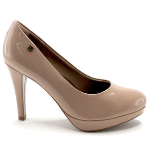 Taupe Patent Pumps (841.022) - SIMPLY SHOES HONG KONG
