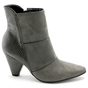 Grey micr and snake Bootie (754.005)