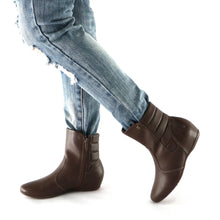 Brown Napa Ladies Ankle Boot (234.015)