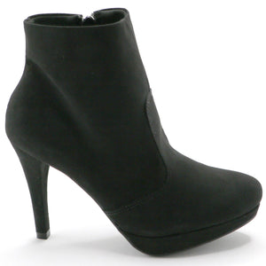Black Microfiber Ankle Boots (841.027) - SIMPLY SHOES HONG KONG