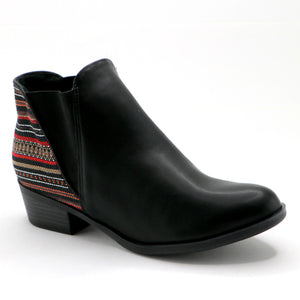 Black Etnico Ankle Boot (652.002) - SIMPLY SHOES HONG KONG