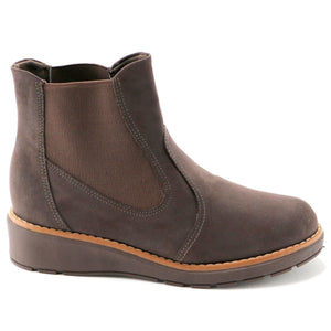 Elastic Cafe Microfibra Ankle Boot (731.018) - SIMPLY SHOES HONG KONG