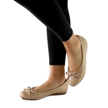 Nude Patent with Napa Ladies Ballerina (100.213) - SIMPLY SHOES HONG KONG