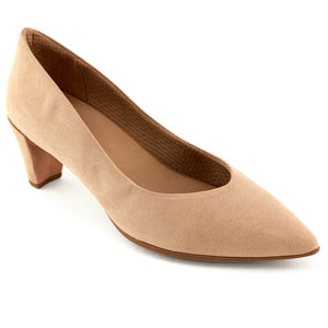 Nude Microfiber Ladies Pumps (119.008) - SIMPLY SHOES HONG KONG
