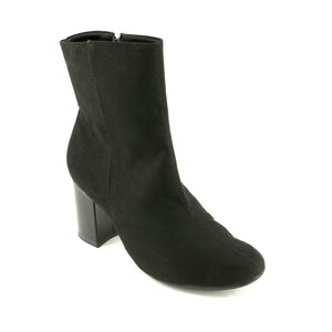 Black Microfiber Ladies Ankle Boots (155.003) - SIMPLY SHOES HONG KONG