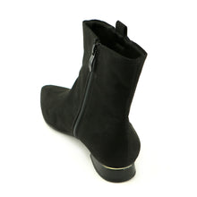 Black Micro with Ornamentt Ladies Ankle Boots (278.005)