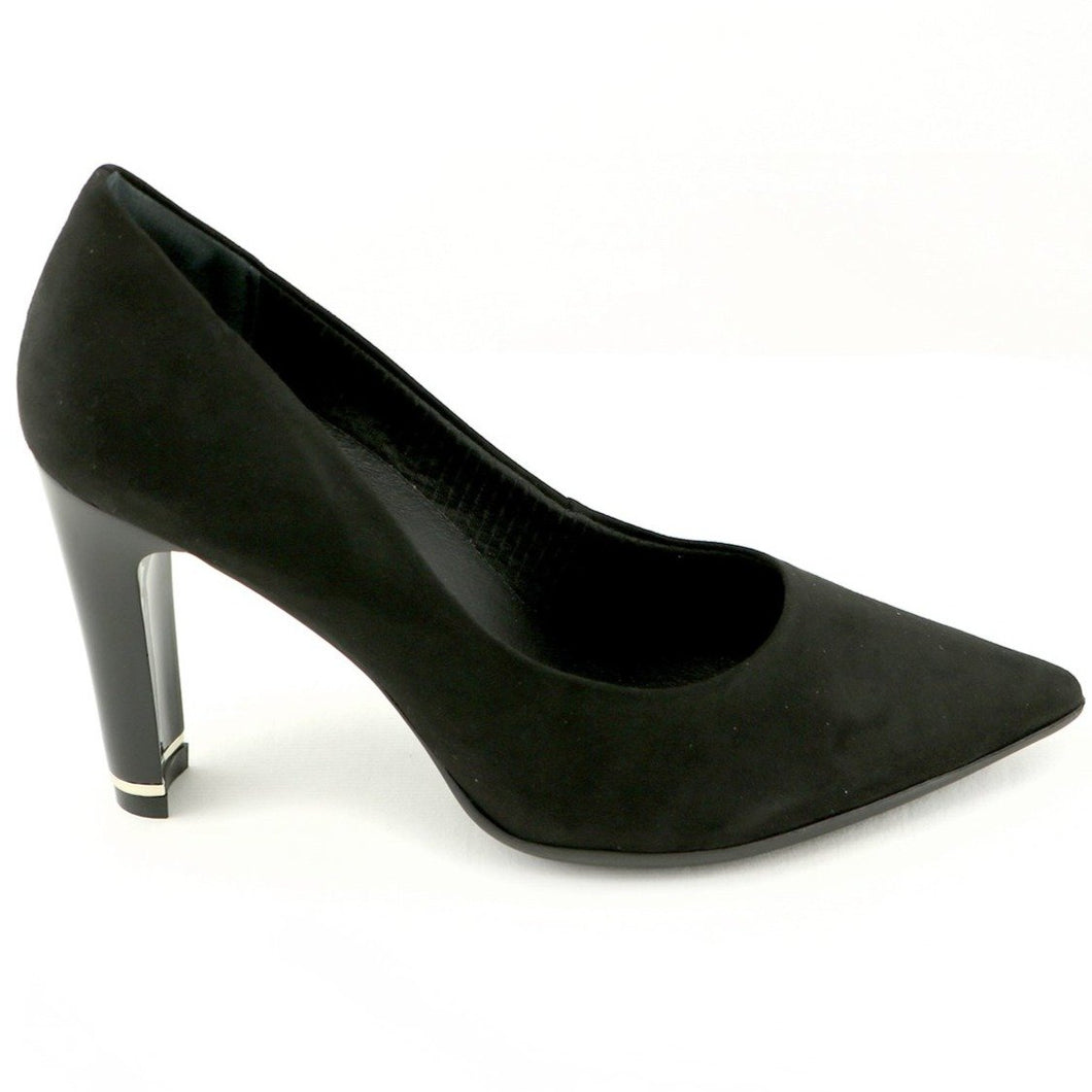 Black Microfiber High Heel Ladies Pumps (749.001)