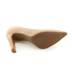 Nude Microfiber High Heel Ladies Pumps (749.001)