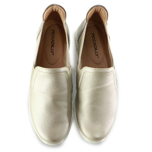Light Gold Sneakers for Women (970.023) - SIMPLY SHOES HONG KONG
