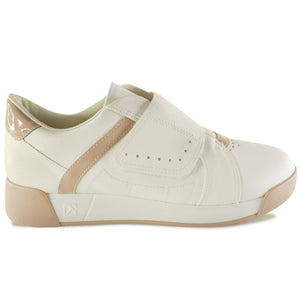 White/Tan Sneakers for Women (988.003) - Simply Shoes Hong Kong